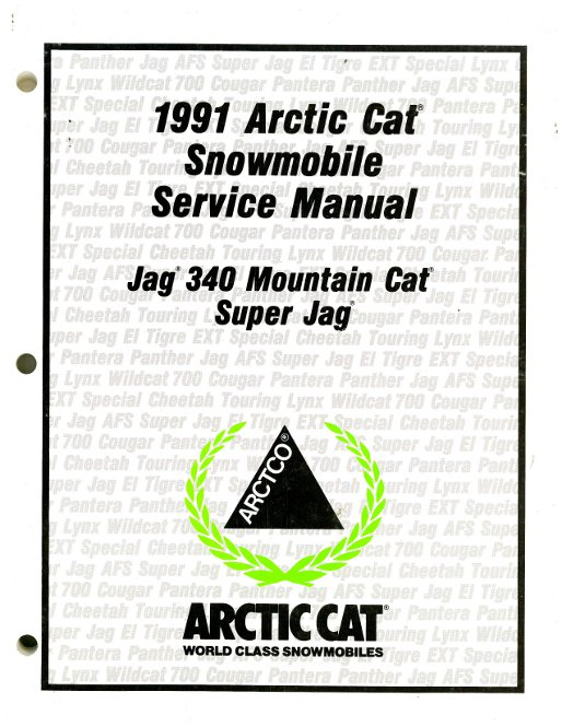 Used 1991 Arctic Cat Jag 340 Super Jag Snowmobile Service