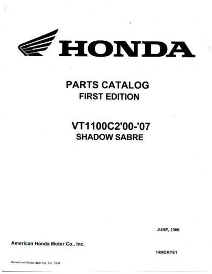 2000-2007 Honda VT1100C2 Shadow Sabre Parts Manual