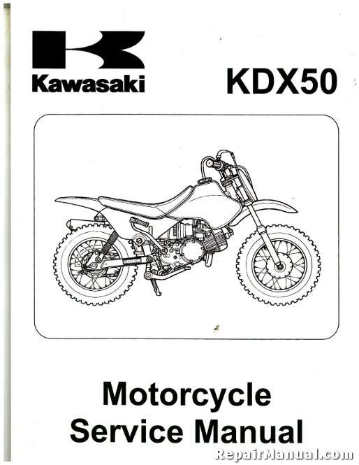2003-2006 Kawasaki KDX50A Motorcycle Service Manual