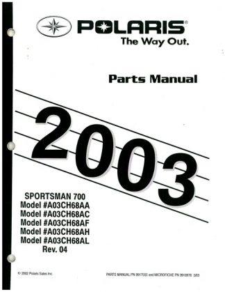 Official 2003 Polaris Sportsman 700 Factory Parts Manual
