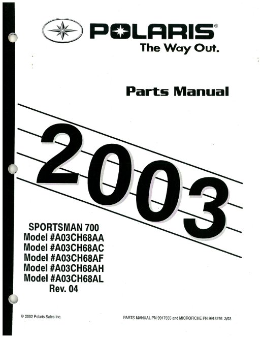 2003 Polaris Sportsman 700 Parts. Engine. Wiring Diagram
