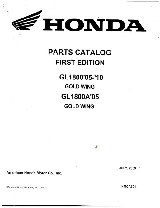 Repair Manuals For Honda Goldwing Goldwing For Sale