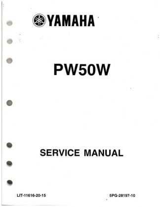 Used 2007-2009 And 2012 Yamaha PW50 Motorcycle Service Manual