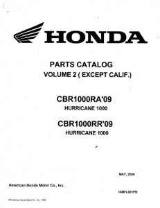 2009-2010 Honda CBR1000RA RR HURRICANE 1000 VOLUME 2