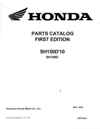 2010 Honda SH150D Parts Manual