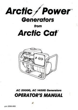Arctic Cat 4000G2 Generator Shop Manual