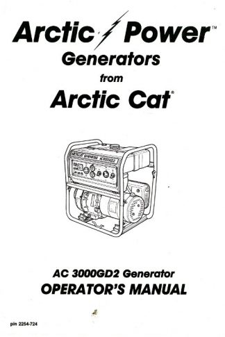 Arctic Cat AC7500GD2E Generator Shop Manual