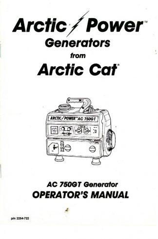 Used Arctic Cat AC7500GD2E Generator Shop Manual