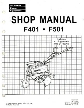 Honda FG100 Tiller Shop Manual