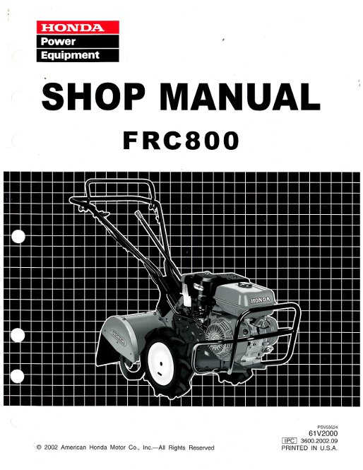 Honda Parts Diagram Manual