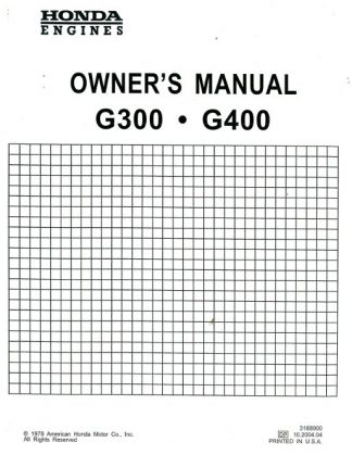 Honda GC135 Engine Owners Manual