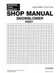 Honda HS624 HS724 HS828 HS928 HS1132 Snowblower Shop Manual