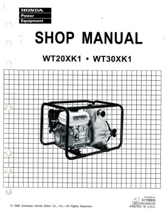 Honda WA15 Water Pump Shop Manual
