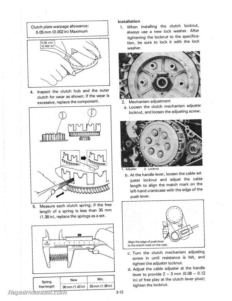 1983 Yamaha YZ490K Motorcycle Owners Service Manual