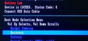 Как прошить смартфон Lenovo с помощью Recovery