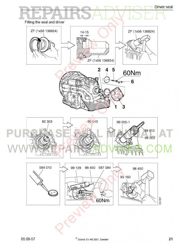 ZF 4/5HP502/592/602 C Repair Manual PDF Download
