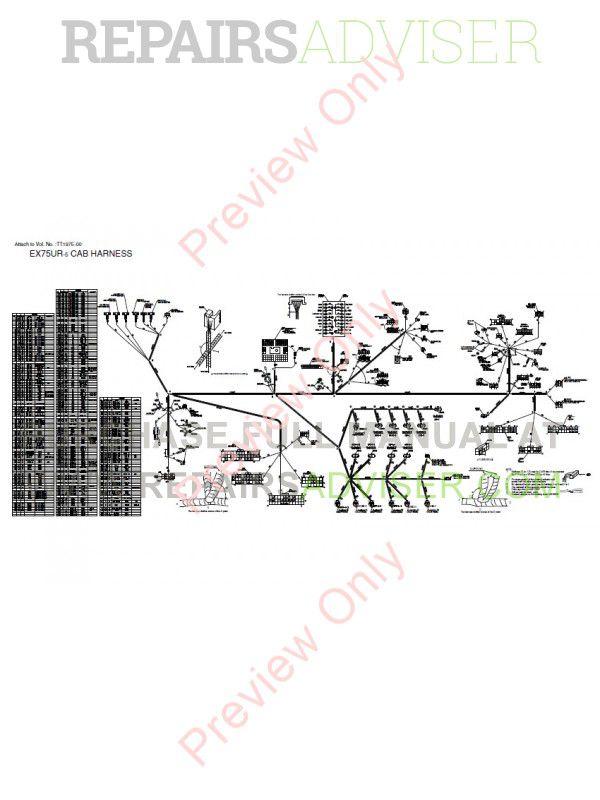 Hitachi EX75UR-5/75US-5 Excavator Set of PDF Manuals Download