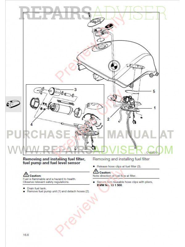 BMW R 850 C, R 1200 C Motorcycle Repair Manual PDF Download