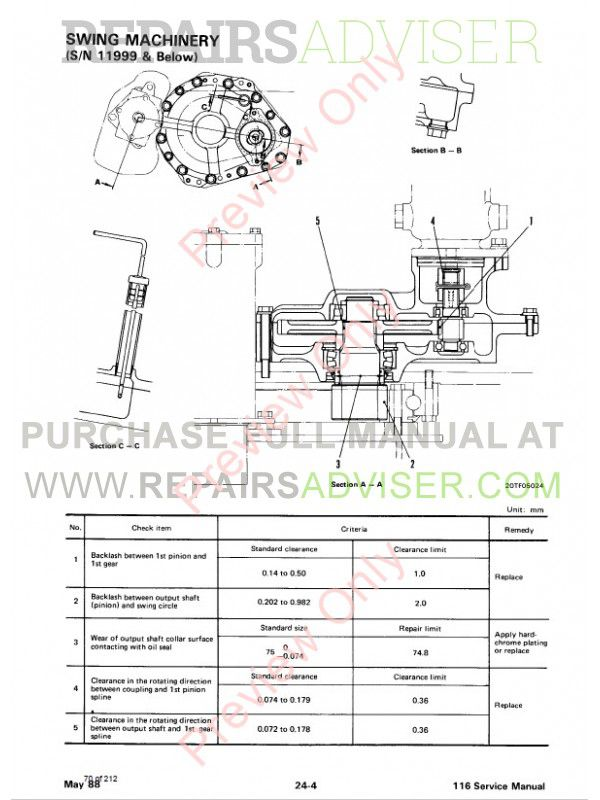 Bobcat 116 Hydraulic Excavator Service Manual PDF Download