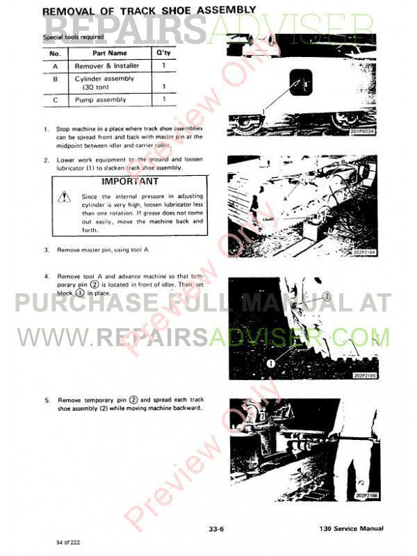 Bobcat 130 Hydraulic Excavator Service Manual PDF Download