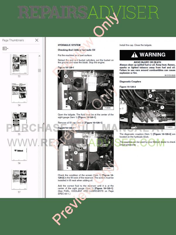 Bobcat 323 Excavator Service Manual PDF Download