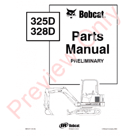 Bobcat 331, 331E, 334 (G-Series) Excavator Parts Manual