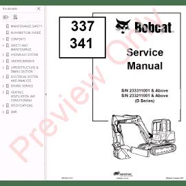 Bobcat 310, 313 Skid Steer Loaders Service Manual PDF Download
