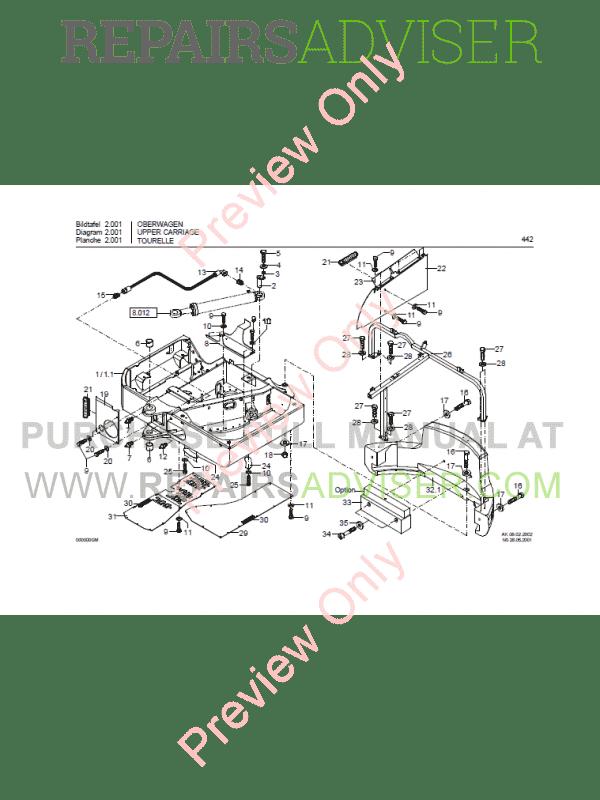 Bobcat 442 Compact Excavator Parts Manual PDF Download