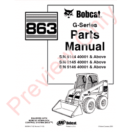 Download Bobcat 743 Skid Steer Loader Parts Manual PDF