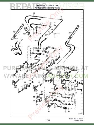 Bobcat 863 GSeries Skid Steer Loader Parts Manual PDF