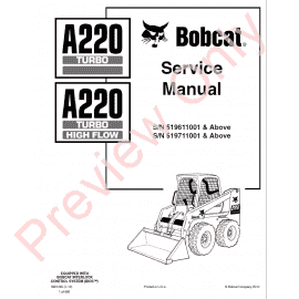 Bobcat A300 All Wheel Steer Service Manual PDF Download