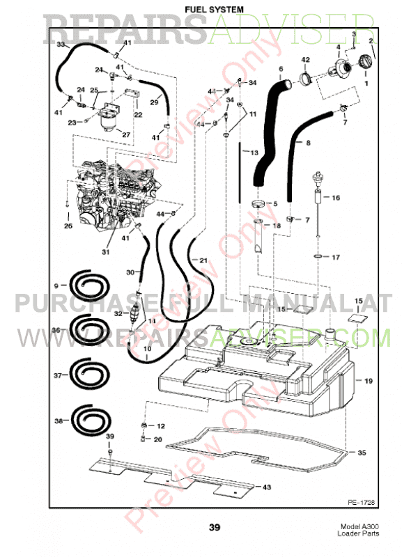 Bobcat A300 Turbo Parts Manual PDF