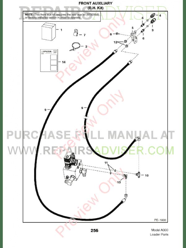 Bobcat A300 Turbo Parts Manual PDF