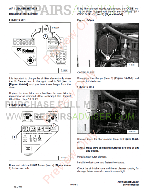 Bobcat A300 Turbo Skid Steer Loader PDF Service Manual
