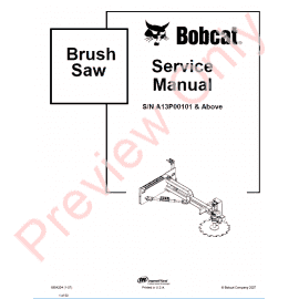 Bobcat Sweeper/Gutter Brush Service Manual PDF Download