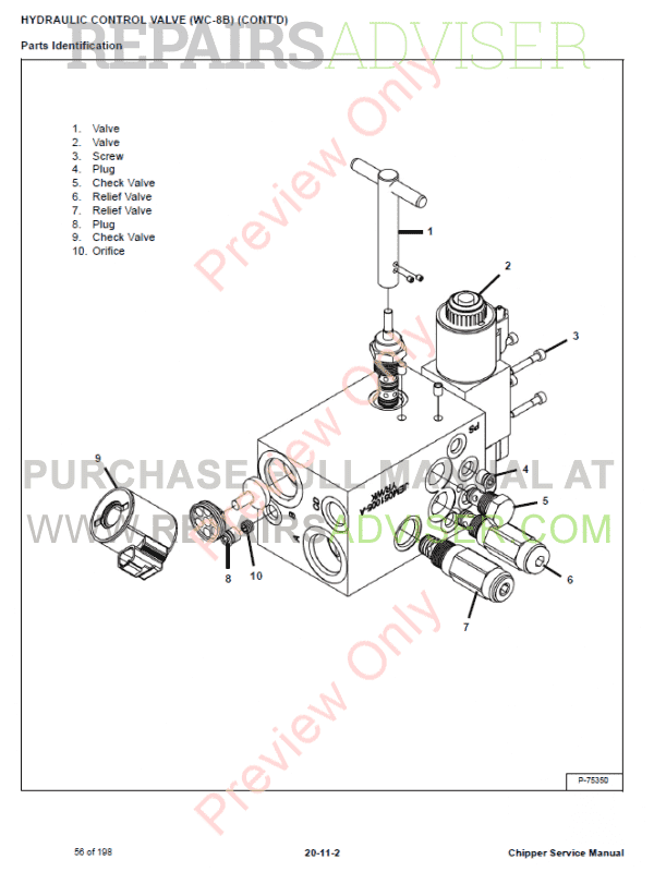 Bobcat Chipper WC-5A, WC-8A, WC-8B Service Manual PDF Download
