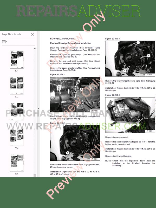 Bobcat Compact Excavator 319 Service Manual PDF Download