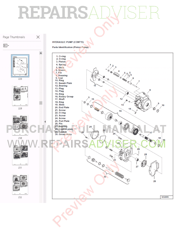 Bobcat Compact Excavator 425 Service Manual PDF Download