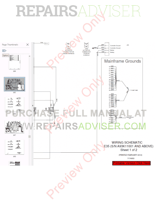 Bobcat Compact Excavator E35 Service Manual PDF Download