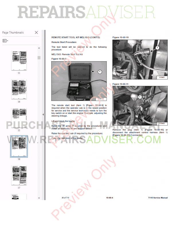 Bobcat Compact Track Loader T110 Service Manual PDF Download