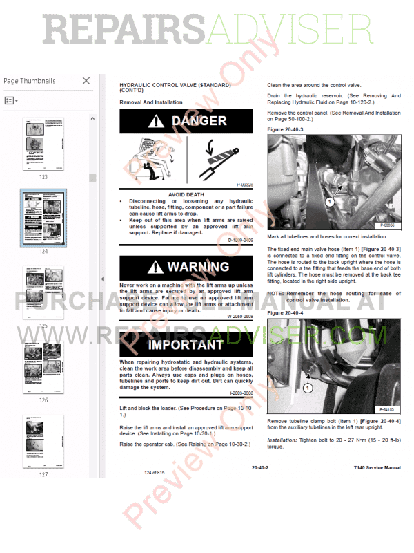 Bobcat Compact Track Loader T140 Service Manual PDF Download
