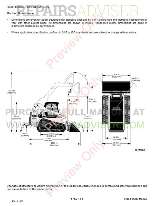 Download Bobcat T320 Track Loader Service Manual PDF