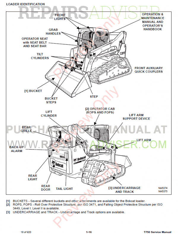 Bobcat Compact Track Loader T750 Service Manual PDF Download
