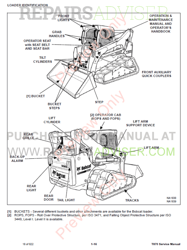 Bobcat Compact Track Loader T870 Service Manual PDF Download