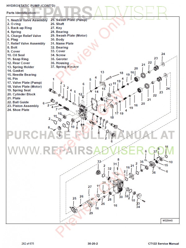 Bobcat Compact Tractor CT122 Service Manual PDF Download