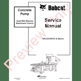 Bobcat Chipper WC-5A, WC-8A, WC-8B Service Manual PDF Download