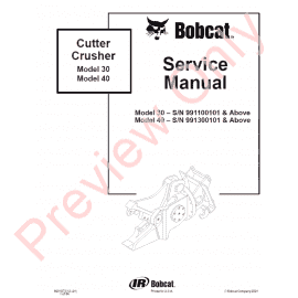 Bobcat 435 Compact Excavator Service Manual PDF Download