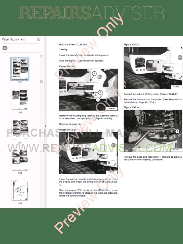 Bobcat Excavator 320, 322 (G Series) Service Manual PDF