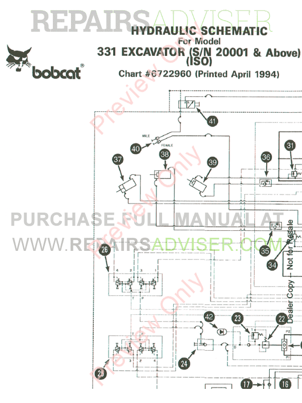 Bobcat Excavator X331 Service Manual PDF Download