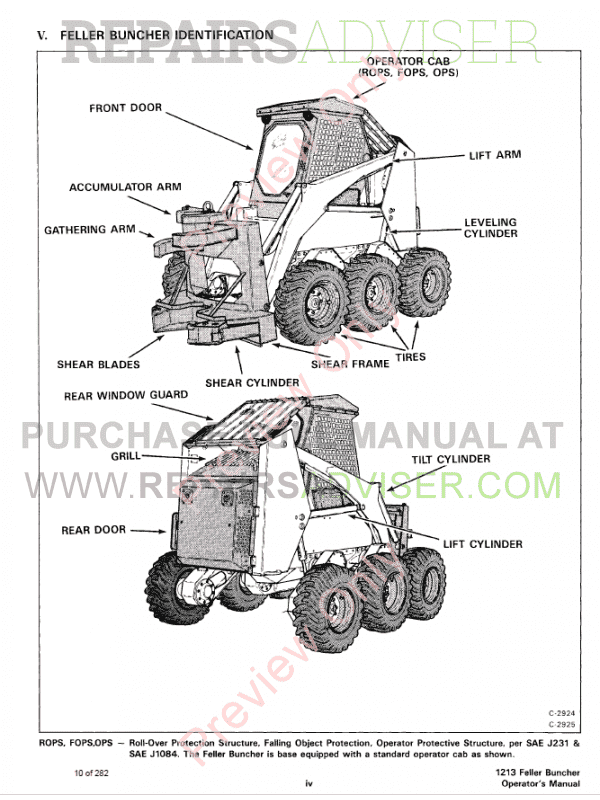 Bobcat Feller Buncher 1213 Service Manual PDF Download